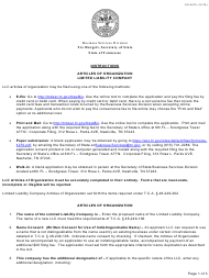 """Form SS-4270 """"Articles of Organization Limited Liability Company"""" - Tennessee"""