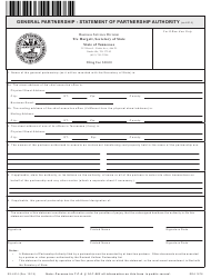 """Form SS-4514 """"General Partnership - Statement of Partnership Authority"""" - Tennessee"""