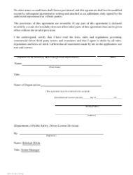 "Form CDL-20 ""Agreement Between the Texas Department of Public Safety Driver License Division and a Commercial Driver License Third Party Tester"" - Texas, Page 2"