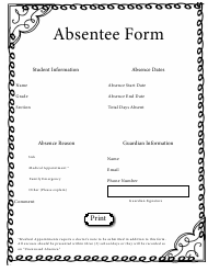 """""""Absentee Form"""""""