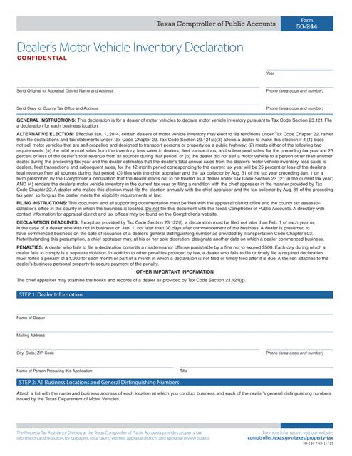 Form 50-244  Printable Pdf