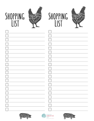 """Shopping List Template"""