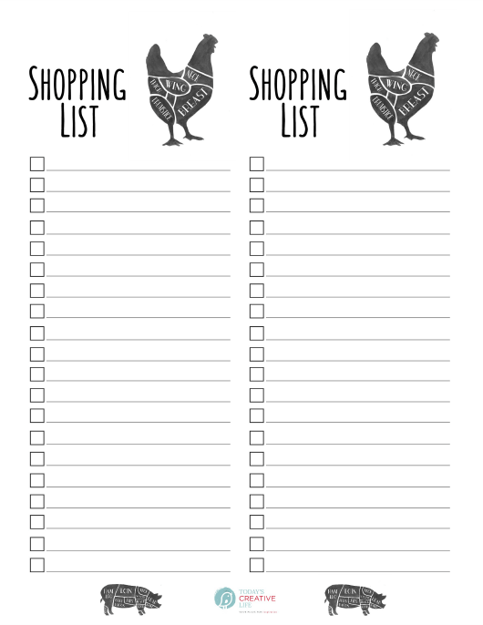 """Shopping List Template"" Download Pdf"