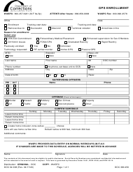 "Form DOC02-338 ""Gps Enrollment"" - Washington"