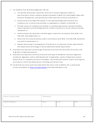 """Form ECY070-493 """"Notice of Intent to Operate Under Terms and Conditions for Solid Waste Permit Exemption"""" - Washington, Page 10"""