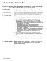 "Form ECY020-87 ""Notice of Termination Form"" - Washington, Page 3"