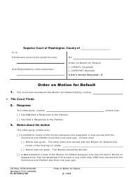 "Form FL All Family162 ""Order on Motion for Default"" - Washington"