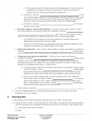 """Form FL Divorce205 """"Petition to Invalidate (Annul) Marriage"""" - Washington, Page 5"""