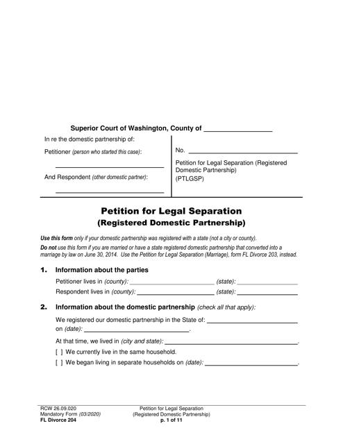 Form FL Divorce204 Printable Pdf