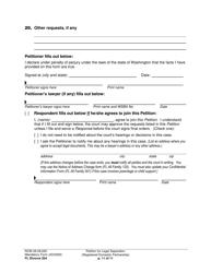 "Form FL Divorce204 ""Petition for Legal Separation (Registered Domestic Partnership)"" - Washington, Page 11"