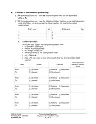 "Form FL Divorce204 ""Petition for Legal Separation (Registered Domestic Partnership)"" - Washington, Page 3"