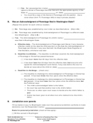"""Form FL Parentage331 """"Petition for a Parenting Plan, Residential Schedule and/or Child Support"""" - Washington, Page 3"""
