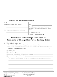 "Form FL Non-Parent455 ""Final Order and Findings on Petition to Terminate or Change Non-parent Custody Order"" - Washington"