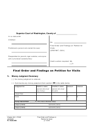 "Form FL Visits488 ""Final Order and Findings on Petition for Visits"" - Washington"