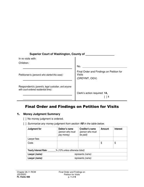 Form FL Visits488  Printable Pdf