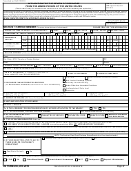 "DD Form 293 ""Application for the Review of Discharge From the Armed Forces of the United States"""