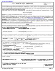 "DD Form 2788 ""Child Annuitant's School Certification"""