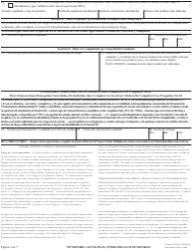 """ATF Formulario 4473 (5300.9) """"Registro De Transaccion De Armas De Fuego"""" (Spanish), Page 3"""