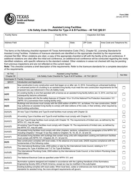 Form 2384  Printable Pdf