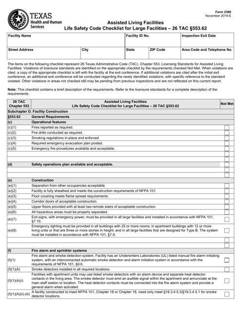Form 2390  Printable Pdf