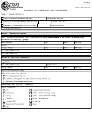 "Form 3210 ""Ambulatory Surgical Center License Application"" - Texas"