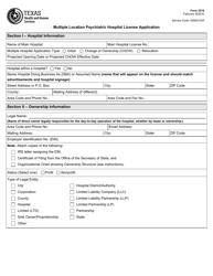 "Form 3218 ""Multiple Location Psychiatric Hospital License Application"" - Texas"