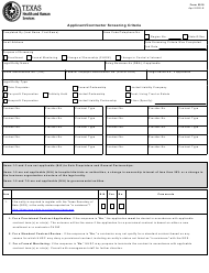 "Form 5916 ""Applicant/Contractor Screening Criteria"" - Texas"