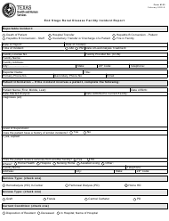 """Form 6103 """"End Stage Renal Disease Facility Incident Report"""" - Texas"""