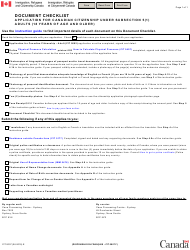 "Form CIT007 ""Document Checklist - Application for Canadian Citizenship Under Subsection 5(1) Adults (18 Years of Age and Older)"" - Canada"