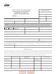 "Form REG471 ""Application for Temporary Registration Nonresident Commercial Vehicle"" - California"