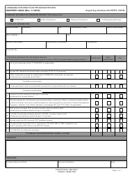 """NAVPERS Form 1040/2 """"Command Information Program Review"""""""