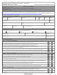 "NAVPERS Form 1080/3 ""Individual Ready Reserve (Irr) Annual Screening"""