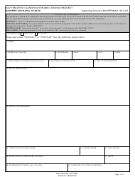 "NAVPERS Form 1221/6 ""Navy Enlisted Classification (Nec) Change Request"""