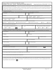 "NAVPERS Form 1752/1 ""Sexual Assault Disposition Report (Sadr)"""