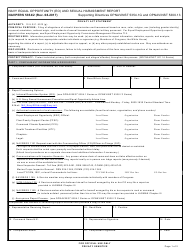 "NAVPERS Form 5354/2 ""Navy Equal Opportunity (Eo) and Sexual Harassment Report"""