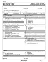 "Form NPPSC1300/4 ""Nppsc Receipts Checklist"""