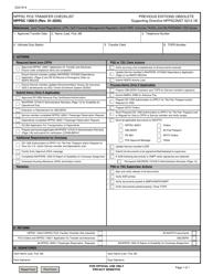 "Form NPPSC1300/3 ""Nppsc PCS Transfer Checklist"""