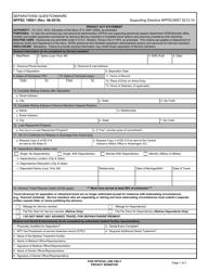 """Form NPPSC1900/1 """"Separations Questionnaire"""""""
