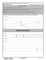 "Form NPPSC7000/1 ""Nppsc Travel Electronic Funds Transfer (Eft) Information"""