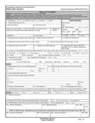 "Form NPPSC4650/1 ""Passenger Reservation Request"""