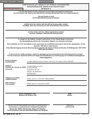 "AE Form 55-1A ""Certificate of Liability of Public Authorities"" (English/Italian/French/German)"