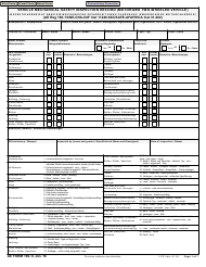 "AE Form 190-1I ""Vehicle Mechanical Safety Inspection Record (Motorized Two-Wheeled Vehicle)"" (English/German)"
