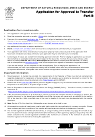 "Form LA04 Part B ""Application for Approval to Transfer"" - Queensland, Australia"