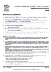 """Form LA18 Part B """"Application for Road Closure"""" - Queensland, Australia"""