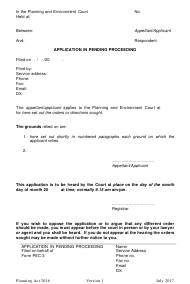"Form 03 ""Application in Pending Proceeding"" - Queensland, Australia"