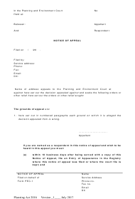 "Form 01 ""Notice of Appeal"" - Queensland, Australia"