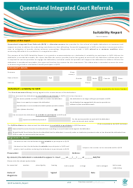 """Qicr Suitability Report"" - Queensland, Australia"