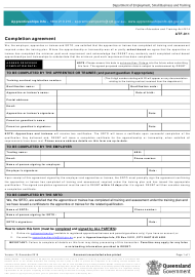 "Form ATF-011 ""Completion Agreement"" - Queensland, Australia"