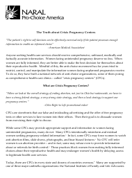 """""""The Truth About Crisis Pregnancy Centers - Naral Pro-Choice America"""""""