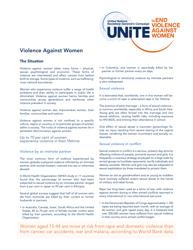 """""""Violence Against Women - Unite"""""""